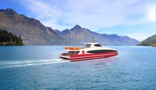 A concept image of the new Southern Discoveries Spirit of Queenstown catamaran on Lake Wakatipu