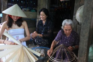 Making Vietnam's famous Conical Hats