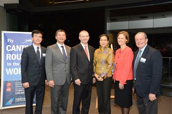 China Southern's Alex Zhao and Henry He with WA Tourism Min Kim Hames, Chinese Consul General Madame Wang, CEO Tourism WA Stephanie Buckland and CZs Bill Bryant