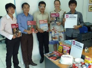 The new Laos team with current Country Manager, Jenn Brown.