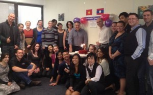 The Travel Indochina team in Sydney celebrating the new Joint Venture