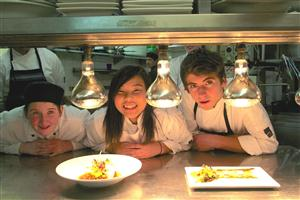 Alice Ward, Haruka Arai, and Cassey Strachan practice their dishes ahead of finale dinner at Crowne Plaza Queenstown_media