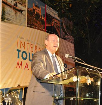 Alain St.Ange, the Seychelles Minister responsible for Tourism & Culture addressing the Official Opening Ceremony as the Guest of Honour