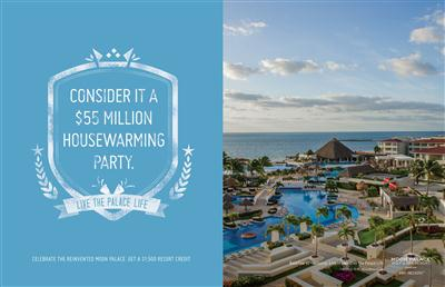 "Palace Resorts unveils new advertising campaign inviting guests to ""Live the Palace Life."" (PRNewsFoto/Palace Resorts)"