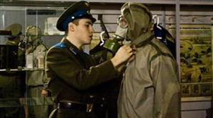 DRESSED-UP: A visitor is fitted out with replica survival gear from the bunker's    early days.(RegentHolidaysUK)