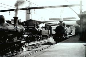 WHEN steam was king at Sydney's Central Railway Station. (NSW Rail Transport Museum)