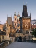prague-lesser town bridge towers
