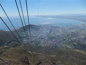 CAPE Town from the cable car to Table Mountain. (David Ellis)