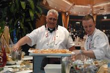 Executive Chef, Heiner Volkens delighted 2012 attendees with fresh canapés throughout the two-day tradeshow