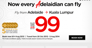 From AirAsia website 30 July 2013