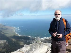 Husband Ross on Table Mountain