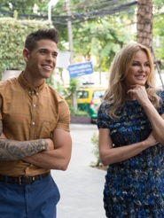 Judges Charlotte Dawson and Didier Cohen share the fun in Bangkok