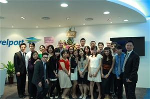 Members of the Travelport Hong Kong team at the opening celebration