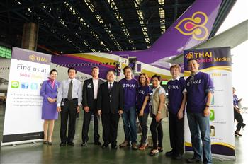 TG109-Photo News  THAI Social Media and Facebook Fanpage Visit THAI's New Boeing 777-300ER