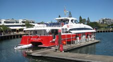 The Spirit of Queenstown gets ready to sail to Bluff, New Zealand