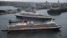Queen Mary 2 and Queen Elizabeth Royal Rendezvous in Sydney 2011