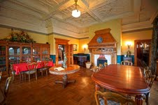 The magnificent dining room at Pen-y-bryn Lodge