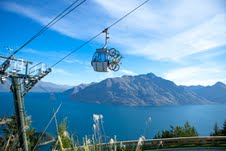 Tracks in the Queenstown Bike Park are accessed by Skyline Gondola