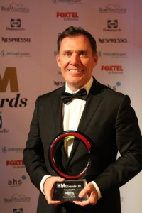 Accor's Chief Operating Officer Simon McGrath with HM Award for Hotel Chain of the Year - low res