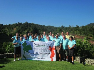 Participants who played in a Golfasian Amateur Week event in Phuket, Thailand.