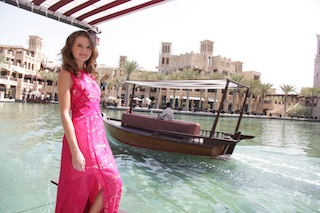 Australian born Dubai based model Sorelle Anthony at Madinat Jumeirah.