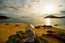 Beach at sunrise at AVANI Quy Nhon