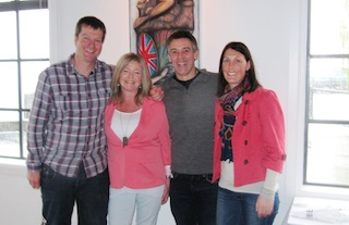Co-owners (L-R) Alex Boyes, Jan Rae, Martin and Megan James