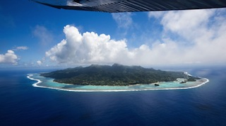PICTURESQUE from the air, Rarotonga still has its haunting memories. (Cook    Islands Tourism)
