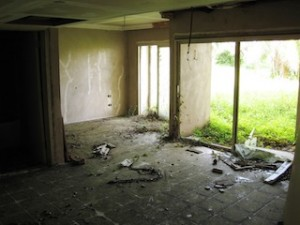 ROOMS like these were almost ready for pampered guests… today they are    trashed or occupied by squatters and gangs. (Roderick Eime)