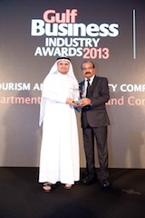 DTCM Gulf Business Industry Awards 2013 - Hamad bin Mejren, Executive Director of Business Tourism DTCM.