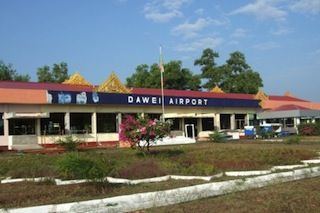 Exterior view of Dawei Airport (one of the airports scheduled for installation of an air traffic control system)