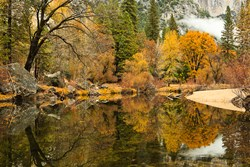 Fall Colors in Yosemite Valley by Robb Hirsch