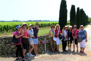 Group at Chateau Simon Vineyard and Wine Cellars