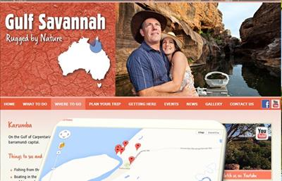 Gulf Savanna – the first Regional Tourism Organisation to use  the new realtime ATLAS web service!