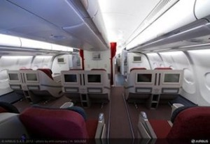 Inside the new Business Class cabin
