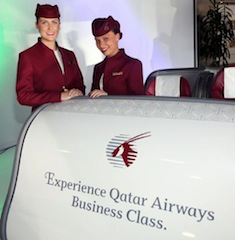 "QATAR AIRWAYS SHOWCASES THE ""WORLD'S BEST BUSINESS CLASS"" AT PRIMO CLASSICO BR'ITALIA IN CHICAGO."