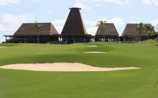 Natadola Bay Championship Golf Course, IntercOntinental Fiji - 18th and clubhouse