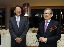 DPM Mr Teo Chee Hean (Left) and CDL Executive Chairman Mr Kwek Leng Beng (Right) at W Singapore - Sentosa Cove for CDL's 50th Anniversary Gala Dinner celebration which took place on 6 September 2013.