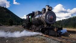 Photo of the Polson Logging 70 Steam Engine Courtesy of NW Lens