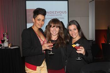 Roshan Paterson from Arinex, Breanne Maike - Conference and Events Coordinator at Rendezvous Studio Hotel Sydney Central, Maria Sangermano from Arinex