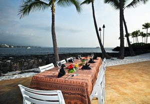 Guests can experience authentic Polynesian cuisine and live performances at our Kona beach hotel restaurant