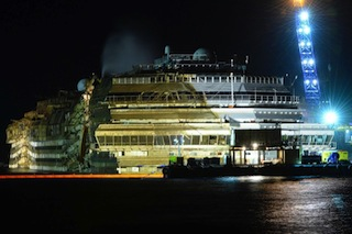The Costa Concordia is righted - ABC