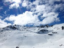 The Remarkables looking out over Sugar Bowl chairlift on Monday
