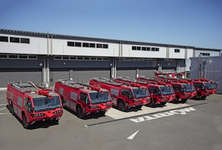 Morita's Aircraft rescue fire fighting vehicles