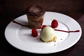 Chocolate Fondant Pistachio Ice cream