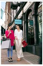 Shoppers at Tiffany & Co. in London Luxury Quarter