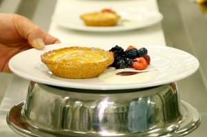 A taste of Ontario: Fresh Swiss apple tart with custard cream and berries is one of the new culinary offerings at the Metro Toronto Convention Centre, which recently renovated its kitchen, doubling the size of its pastry kitchen. Mtccc.com