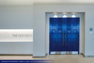 Entrance to The Centurion Lounge, American Express