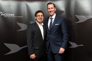 Accor's General Manager Franchise Dino Mezzatesta and Mark Maybury General Manager Novotel Rooty Hill
