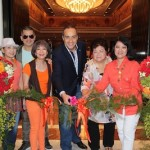 Ribbon cutting with Mr. Rami Sayess, Regional Vice President and General Manager, Four Seasons Hotel Bangkok, from left: M.R. Usnisa Sukhvasti, M.L. Poomchai Chumbala, Naphalai Areesorn, Mr.Rami Sayess, Cora Sukhyanga  and Annabelle Daokaew,